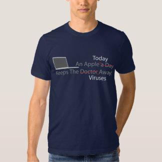 An Apple Today Keeps The Viruses Away - Colored Tee Shirt