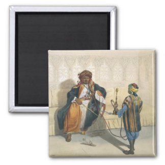 An Arab Sheikh Smoking, illustration from 'The Val Square Magnet