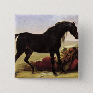 An Arabian Horse 15 Cm Square Badge