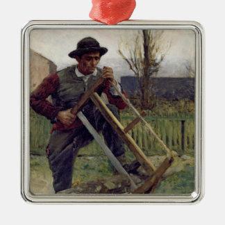 An Aragonese Woodcutter, 1876 Christmas Ornament