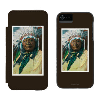 An Arapahoe Indian Chief PortraitColorado Incipio Watson™ iPhone 5 Wallet Case