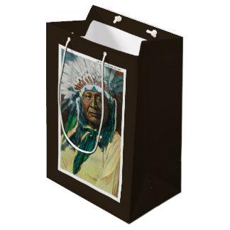 An Arapahoe Indian Chief PortraitColorado Medium Gift Bag