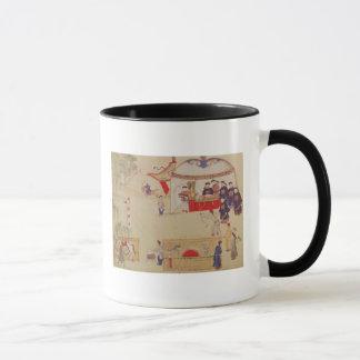 An archery contest, late 18th century mug