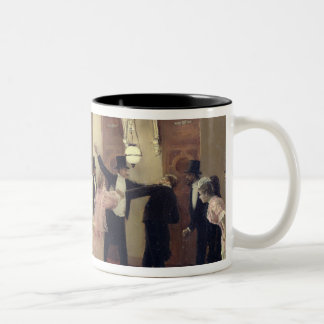 An Argument in the Corridors of the Opera, 1889 Two-Tone Coffee Mug