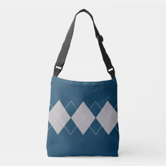 An Argyle Pattern Crossbody Bag