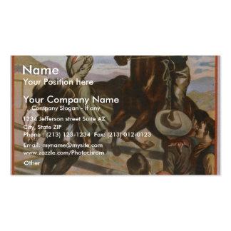 An Arizona Cowboy Retro Theater Business Card
