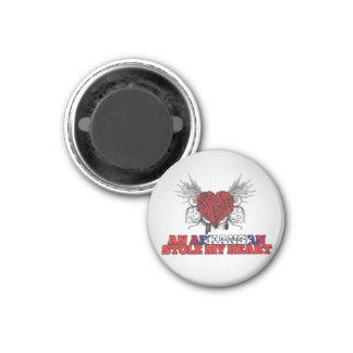 An Arkansan Stole my Heart 3 Cm Round Magnet