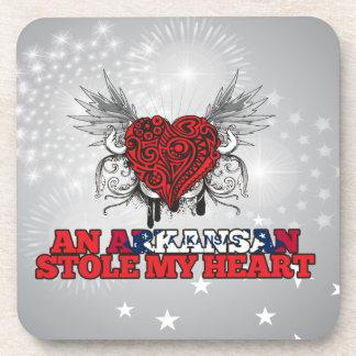 An Arkansan Stole my Heart Drink Coaster