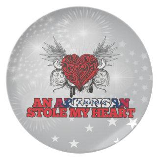 An Arkansan Stole my Heart Party Plate