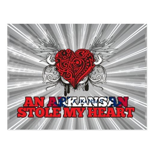 An Arkansan Stole my Heart Post Card