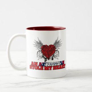 An Arkansan Stole my Heart Two-Tone Mug