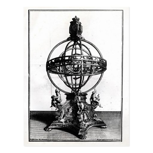 An Armillary Sphere of the Copernican System Postcard