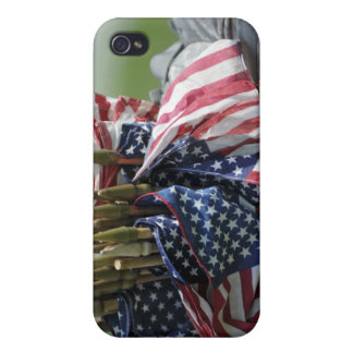 An Army soldier's backpack iPhone 4 Cases