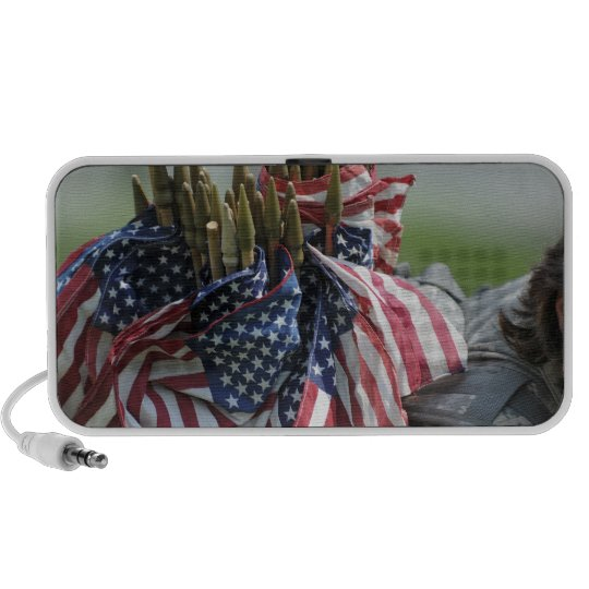 An Army soldier's backpack Mini Speakers