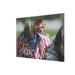 An Army soldier's backpack Stretched Canvas Print