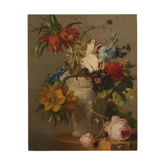 An Arrangement with Flowers, 19th century Wood Wall Art