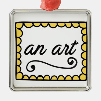 An Art Square Ornament