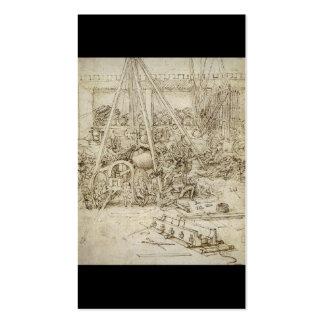An Artillery Park (c. 1487) by Leonardo da Vinci Pack Of Standard Business Cards