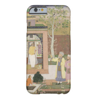 An artist decorating the interior of a garden pavi barely there iPhone 6 case