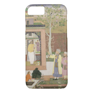 An artist decorating the interior of a garden pavi iPhone 7 case