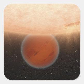 An artisti's concept square sticker