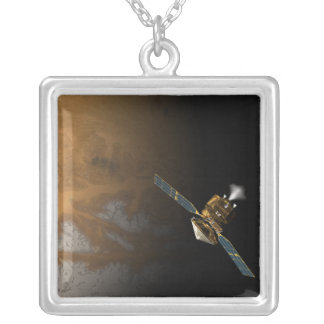 An artist's concept silver plated necklace