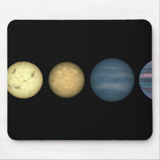 An artist's rendition comparing brown dwarfs 2 mouse pad