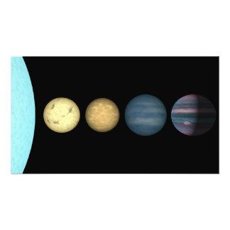 An artist's rendition comparing brown dwarfs 2 photo art