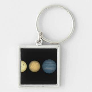 An artist's rendition comparing brown dwarfs 2 Silver-Colored square key ring