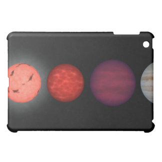 An artist's rendition comparing brown dwarfs iPad mini cases