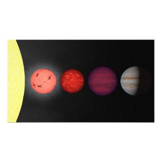 An artist's rendition comparing brown dwarfs art photo