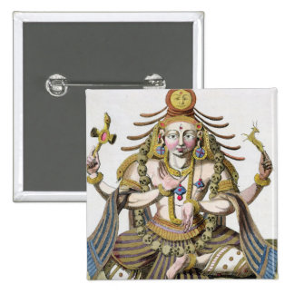 An aspect of Shiva, from 'Voyage aux Indes et a la 15 Cm Square Badge