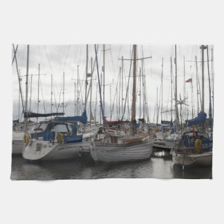 An Assortment of Yachts Hand Towel