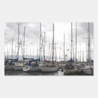 An Assortment of Yachts Rectangular Sticker