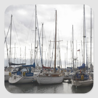 An Assortment of Yachts Square Sticker
