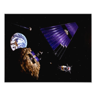 An asteroid mining mission photograph