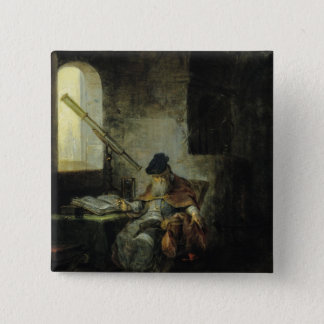 An Astronomer 15 Cm Square Badge