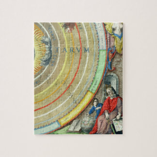 An Astronomer, detail from a map of the planets, f Jigsaw Puzzle