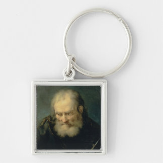 An Astronomer Silver-Colored Square Key Ring