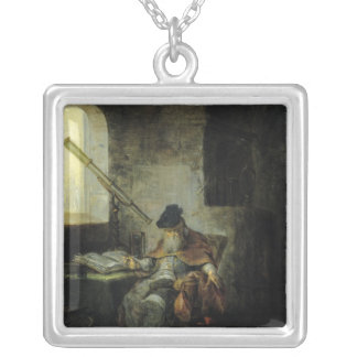 An Astronomer Silver Plated Necklace
