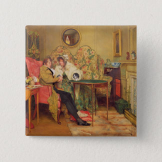 An Attentive Visitor 15 Cm Square Badge