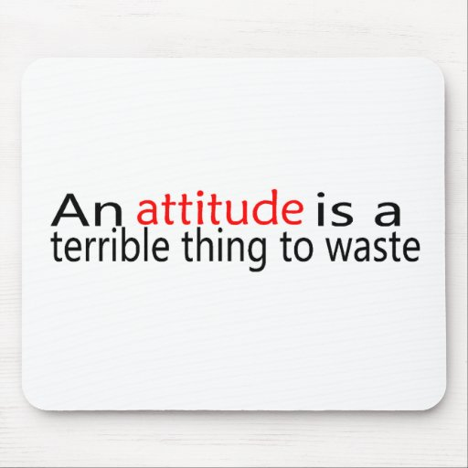 An Attitude Is A Terrible Thing To Waste Mouse Mat