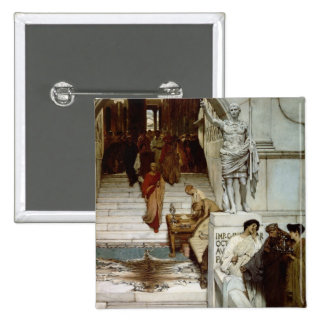 An Audience at Agrippa's, 1875 (oil on canvas) 15 Cm Square Badge