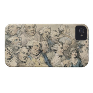 An Audience at Drury Lane Theatre (pen & ink and w iPhone 4 Case