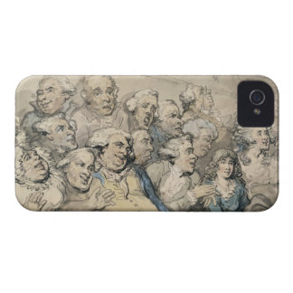 An Audience at Drury Lane Theatre (pen & ink and w iPhone 4 Case-Mate Cases