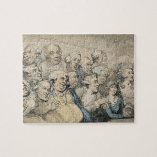 An Audience at Drury Lane Theatre (pen & ink and w Jigsaw Puzzle