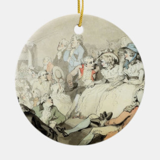 An Audience Watching a Play, c.1785 (pen and ink a Christmas Ornament