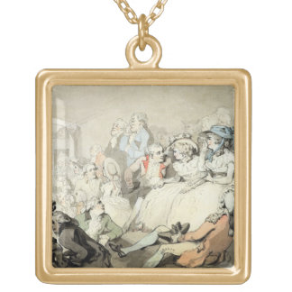 An Audience Watching a Play, c.1785 (pen and ink a Pendants