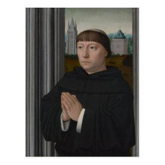 An Augustinian Friar Praying by Gerard David Postcards