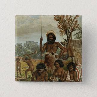 An Australian family party from New South Wales 15 Cm Square Badge